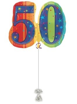 A YEAR TO CELEBRATE 50. 50th Birthday Balloons.
