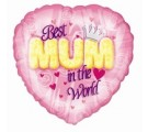 """BEST MUM IN THE WORLD"" Mothers Day Balloons."