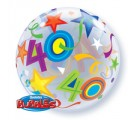 40 BRILLIANT STARS. 40th birthday Balloon.