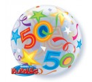 50 BRILLIANT STARS. 50th birthday Balloon.