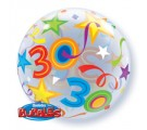 30 BRILLIANT STARS. 30th birthday Balloon.