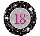 18th Black & Pink Sparkle Birthday Balloons. Balloons For 18th Birthdays.