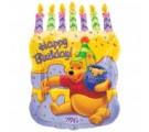 Winnie The Pooh Cake With Candles
