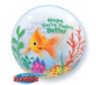 Feel Better Soon Fish Bowl Balloons. Bubble Balloons