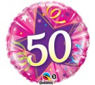 50th Shocking Pink Birthday Balloons. 50th Birthday Balloons.