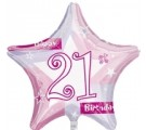 21st Birthday Balloons. 21st Pink Shimmer. Balloons for 21st birthdays.