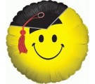 Smiley Face Grad Balloon.   Balloon In A Box.